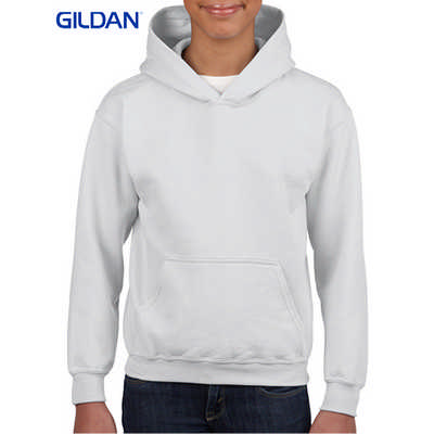 Gildan Heavy Blend Youth Hooded Sweatshirt White  (18500B_WHITE_GILD)